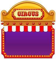 modelo de placa de circo em branco vetor