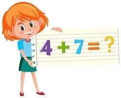 questão de adição matemática vetor