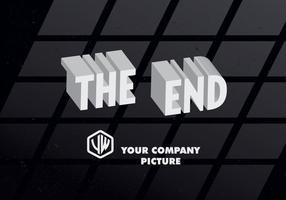 3d o vetor do cartão de título final