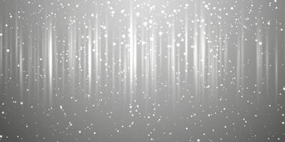 banner abstrato com brilhos prateados vetor