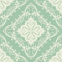 padrão decorativo de azulejo sem costura vetor