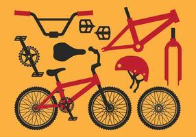 Peça de equipamento de bicicleta vetor