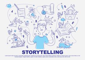 Ilustração do vetor Doodle Storytelling