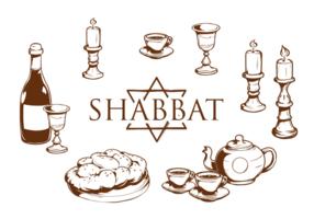 Ícone dos ícones de Shabat vetor