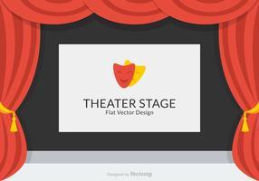 Design de vetor de palco de teatro