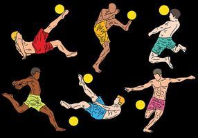 Vetor de ícones de futebol de praia grátis