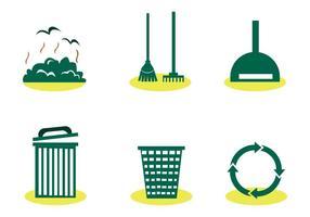 Conjunto do vetor do lixo do aterro