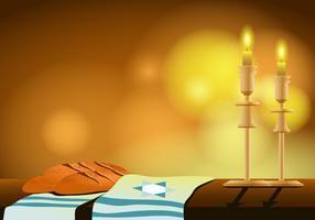 Shabbat shalom vetor