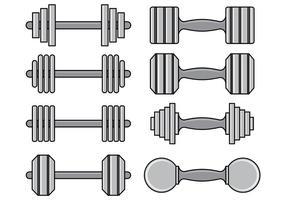 Conjunto de ícones dumbell vetor