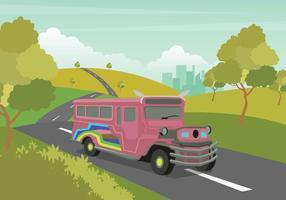 Ilustração gratuita de Jeepney vetor