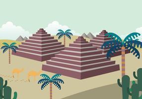 Ilustração gratuita de Piramide vetor
