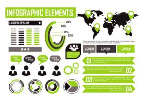 Vector de Elementos Infográficos Verdes