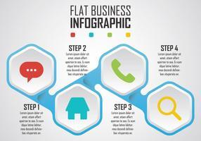Infografia plana de negócios vetor