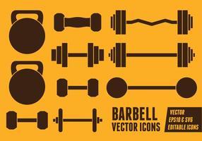 Ícones do vetor Barbell