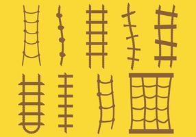Vetor de ícone de escada de corda livre