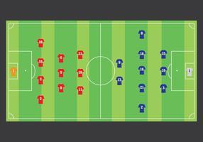 Estratégia da equipe de futebol vetor