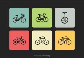 Ícones grátis do vetor da silhueta da bicicleta