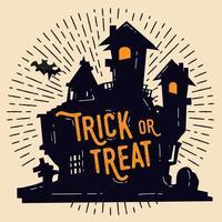 Ilustração livre do castelo de Halloween
