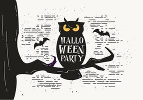 Livre Scary Halloween Owl Vector