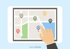 Navegação GPS móvel de vetor livre