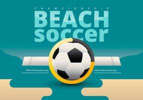Campeonato de futebol de praia modelo de Versus vetor