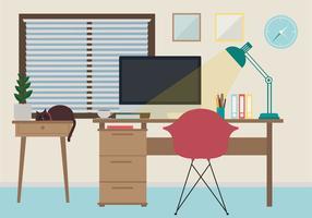 Ilustração do espaço de trabalho vetorial
