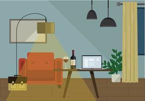 Ilustração da sala de estar do vetor