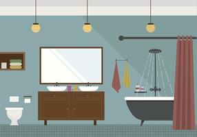 Ilustração do banheiro vetorial
