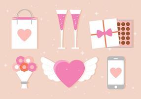 Ícones do vetor Valentine's Day