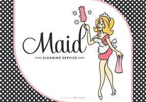 Free French Cartoon Maid vetor