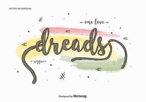 Free dreads background vetor