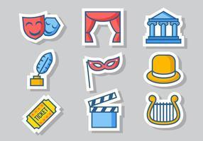 Vetor de ícones de teatro livre