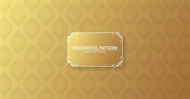 padrão abstrato luxo ouro e moldura vetor