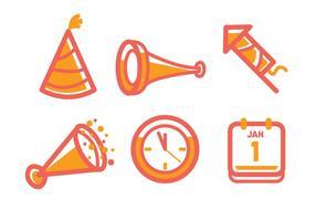 Ícone de Ano Novo vetor
