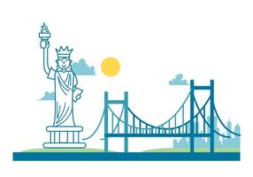 Nova York Paisagem vetor