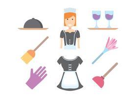 Vetor francês gratuito da empregada doméstica