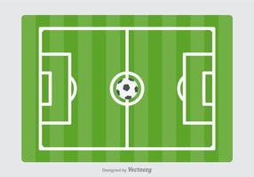 Campo de futebol vetorial gratuito vetor
