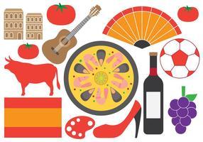 Símbolos espanhóis vetor
