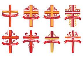 Cruzes de Páscoa vetor