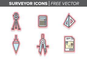 Ícones do topógrafo Vector grátis