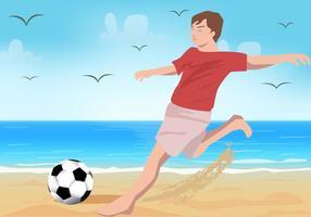 Esporte de futebol de praia vetor
