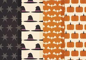 Padrões de vetores do Halloween
