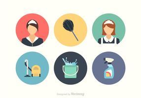 Conjunto de ícones de vetores de limpeza grátis