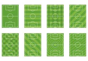 Conjunto de vetor de terra de futebol