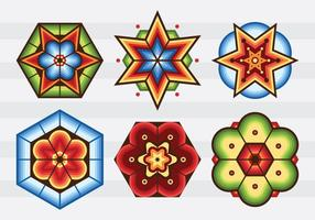 Huichol pattern center vetor