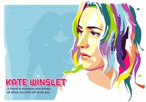 Kate winslet - vida hollywoodiana - popart portrait vetor