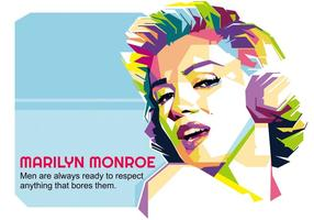 Marilyn monroe - vida hollywoodiana - wpap vetor