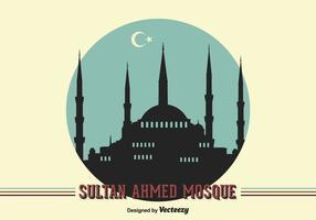Fundo livre da Mesquita do Sultão Ahmed do vetor