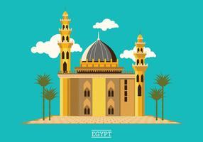 A mesquita medieval do sultão Hassan localizada na Praça Salah El-Deen Cairo Egito vetor