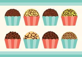 Brigadeiro Candy Collection vetor